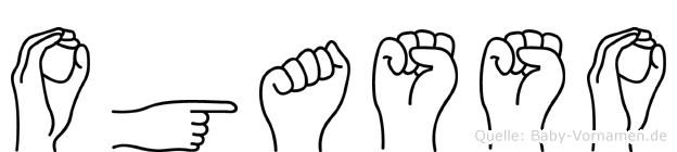 Ogasso im Fingeralphabet der Deutschen Gebärdensprache