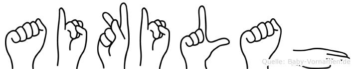Aikilah im Fingeralphabet der Deutschen Gebärdensprache