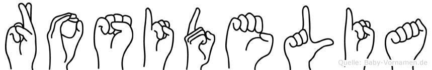 Rosidelia in Fingersprache für Gehörlose