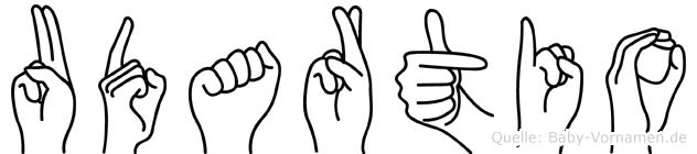 Udartio im Fingeralphabet der Deutschen Gebärdensprache