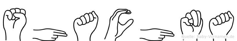 Shachna im Fingeralphabet der Deutschen Gebärdensprache