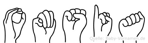 Omsia im Fingeralphabet der Deutschen Gebärdensprache
