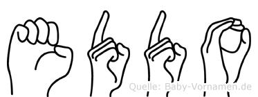 Eddo im Fingeralphabet der Deutschen Gebärdensprache