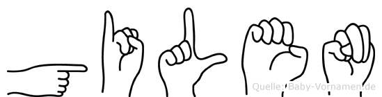Gilen in Fingersprache für Gehörlose