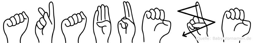 Akabueze im Fingeralphabet der Deutschen Gebärdensprache