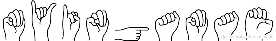 Myingamae in Fingersprache für Gehörlose