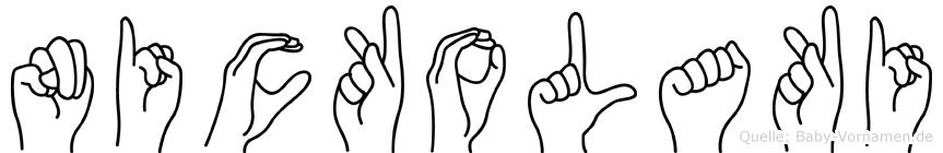 Nickolaki in Fingersprache für Gehörlose