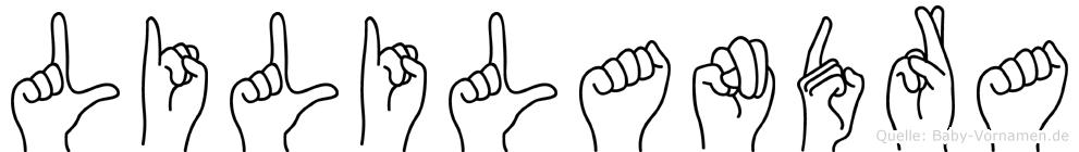 Lililandra in Fingersprache für Gehörlose