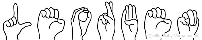 Leorben in Fingersprache für Gehörlose