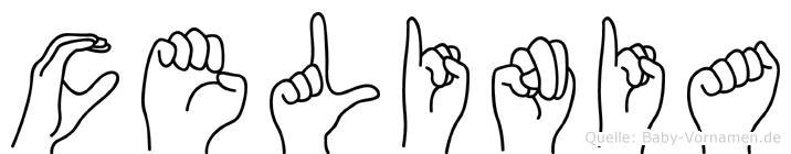 Celinia im Fingeralphabet der Deutschen Gebärdensprache