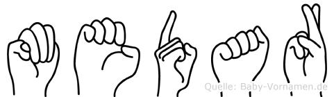Medar in Fingersprache für Gehörlose