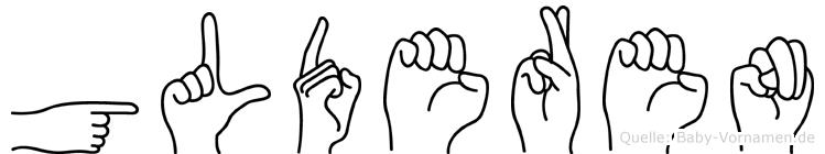 Gülderen in Fingersprache für Gehörlose