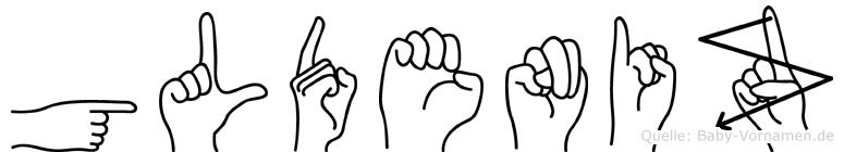 Güldeniz im Fingeralphabet der Deutschen Gebärdensprache
