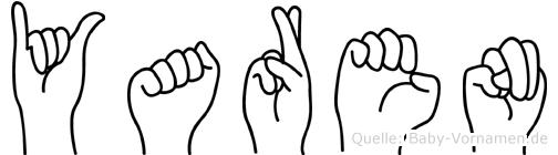 Yaren im Fingeralphabet der Deutschen Gebärdensprache