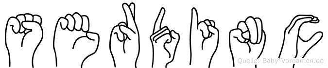 Serdinc in Fingersprache für Gehörlose