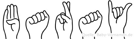 Baray im Fingeralphabet der Deutschen Gebärdensprache