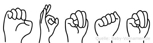 Efnan in Fingersprache für Gehörlose