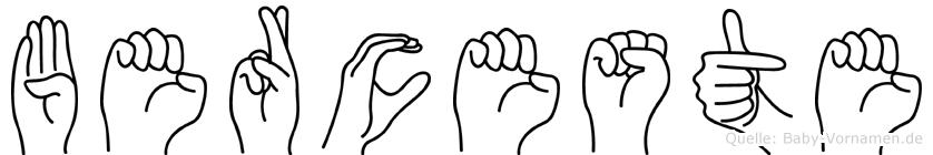 Berceste in Fingersprache für Gehörlose