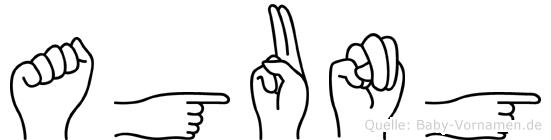 Agung in Fingersprache für Gehörlose