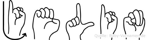 Jelin im Fingeralphabet der Deutschen Gebärdensprache