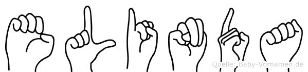 Elinda in Fingersprache für Gehörlose