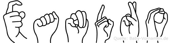 Xandro in Fingersprache für Gehörlose