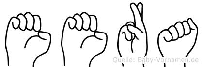 Eera in Fingersprache für Gehörlose