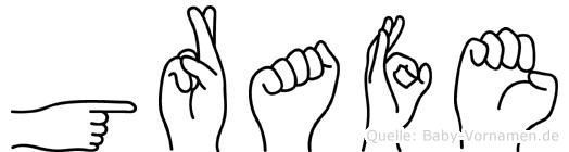 Grafe in Fingersprache für Gehörlose