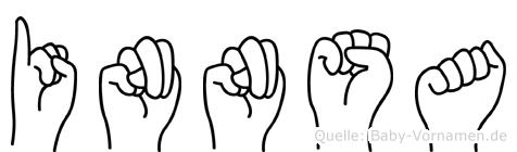 Innsa im Fingeralphabet der Deutschen Gebärdensprache