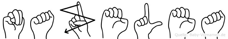 Nazelea in Fingersprache für Gehörlose