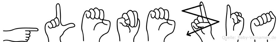 Glenezia in Fingersprache für Gehörlose