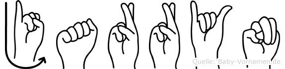 Jarryn im Fingeralphabet der Deutschen Gebärdensprache