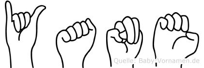 Yane im Fingeralphabet der Deutschen Gebärdensprache