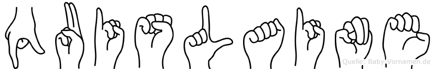 Quislaine in Fingersprache für Gehörlose