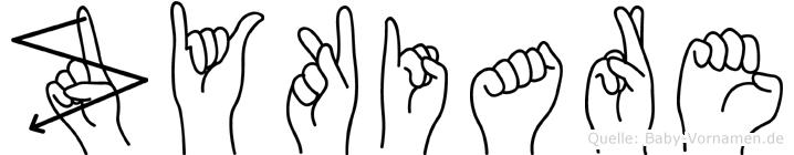 Zykiare im Fingeralphabet der Deutschen Gebärdensprache