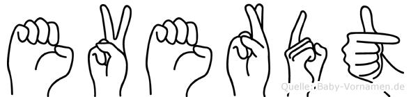 Everdt im Fingeralphabet der Deutschen Gebärdensprache