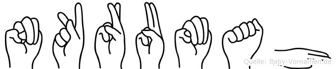 Nkrumah im Fingeralphabet der Deutschen Gebärdensprache