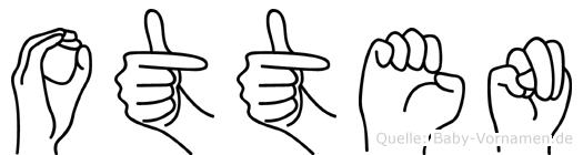Otten im Fingeralphabet der Deutschen Gebärdensprache