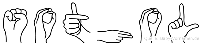 Sothol im Fingeralphabet der Deutschen Gebärdensprache