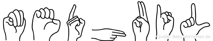 Medhuil in Fingersprache für Gehörlose