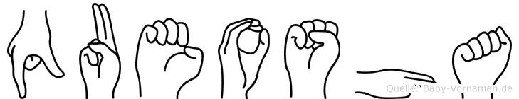 Queosha in Fingersprache für Gehörlose