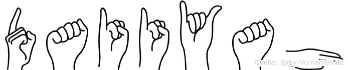 Daiiyah im Fingeralphabet der Deutschen Gebärdensprache
