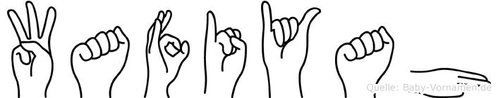 Wafiyah in Fingersprache für Gehörlose
