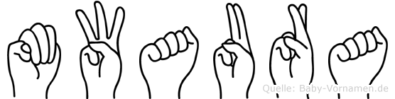 Mwaura im Fingeralphabet der Deutschen Gebärdensprache