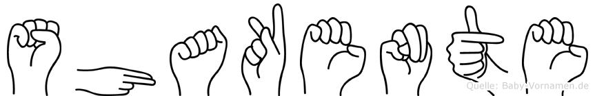 Shakente in Fingersprache für Gehörlose