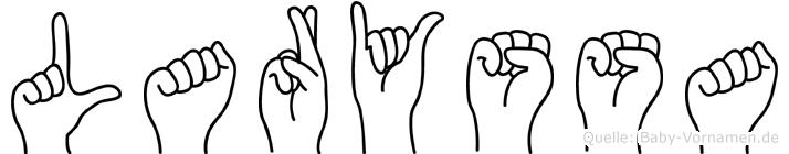 Laryssa im Fingeralphabet der Deutschen Gebärdensprache