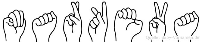 Markeva im Fingeralphabet der Deutschen Gebärdensprache