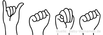 Yama im Fingeralphabet der Deutschen Gebärdensprache