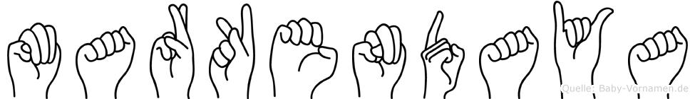 Markendaya in Fingersprache für Gehörlose