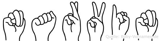 Narvin in Fingersprache für Gehörlose